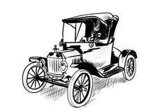 Zeer oude auto Stock Fotografie