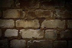 Zeer oude bakstenen muur Stock Afbeeldingen