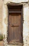 Zeer oude deur Stock Afbeelding