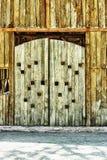 Zeer oude houten schuurpoort Royalty-vrije Stock Fotografie