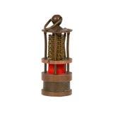 Zeer oude miniatuur van een mijnwerkerslamp stock foto