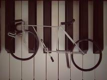Zeer oude piano stock foto's