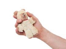 Zeer oude teddybear Royalty-vrije Stock Afbeeldingen