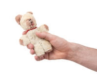 Zeer oude teddybear Stock Foto's