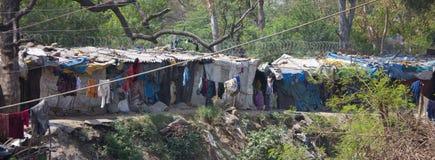 Zeer Slechte Huisvesting in India royalty-vrije stock fotografie