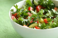 Zeer smakelijke salade voor lunch. Het gezonde Eten Stock Afbeeldingen