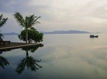 Zeer stille plaats op de Baai van Bengalen te ontspannen stock fotografie