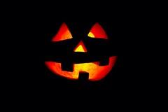 Zeer vriendelijke en grappige Halloween-pompoen, met een grappige blik en s Royalty-vrije Stock Fotografie