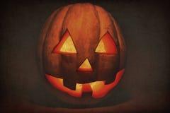 Zeer vriendelijke en grappige Halloween-pompoen, met een grappige blik en s Royalty-vrije Stock Afbeelding
