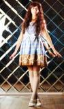 Zeer zacht mooi meisje in stijl van een anime Stock Afbeelding
