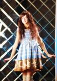 Zeer zacht mooi meisje in stijl van een anime Royalty-vrije Stock Afbeeldingen