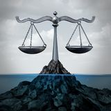 Zeerechtjuridisch begrip royalty-vrije illustratie