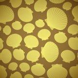 Zeeschelp naadloos patroon Stock Afbeeldingen