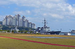 Zeeschepen in Busan, Zuid-Korea Stock Afbeeldingen