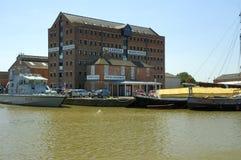 Zeeschip dat door Alexandra Warehouse wordt vastgelegd stock fotografie