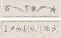 Zeevaart Banners Stock Foto's