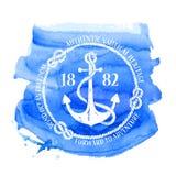 Zeevaart embleem met anker Royalty-vrije Stock Fotografie