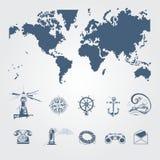 Zeevaart en zeemanspictogrammen Royalty-vrije Stock Foto's