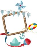 Zeevaart frame thema stock illustratie