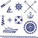 Zeevaart Pictogrammen Royalty-vrije Stock Foto