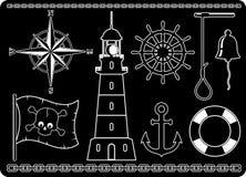 Zeevaart Pictogrammen royalty-vrije illustratie