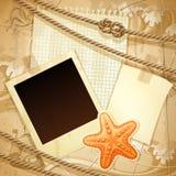 Zeevaart plakboekmalplaatje Stock Afbeelding