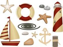 Zeevaart symbolen Stock Foto