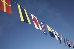 Zeevaart vlaggen Stock Foto's