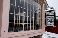 Zeevaartinstrumentenwinkel in Mysticuszeehaven, Connecticut, de V.S. Stock Foto's