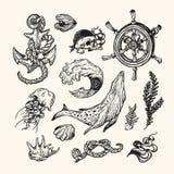 Zeevaartinzameling reeks Stock Foto's