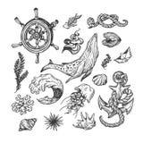 Zeevaartinzameling reeks Royalty-vrije Stock Afbeeldingen