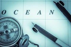 Zeevaartnavigatie - landschapsformaat Stock Foto