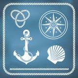 Zeevaartsymbolen Stock Afbeeldingen
