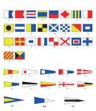 Zeevaartvlaggen Stock Foto's