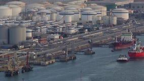 Zeeverkeer in de haven van Barcelona Geschoten op Canon 5D Mark II met Eerste l-Lenzen stock videobeelden