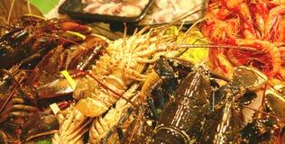 Zeevruchten bij een markt Stock Foto