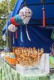 Zeevruchten bij het Aziatische Festival van het straatvoedsel Stock Foto's