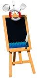 Zeevruchten - Bord op Schildersezel Royalty-vrije Stock Afbeelding