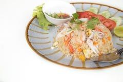 Zeevruchten gebraden rijst Stock Afbeelding