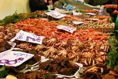 Zeevruchten in markt Stock Fotografie