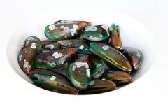 Zeevruchten: Mosselen Royalty-vrije Stock Afbeeldingen