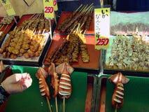 Zeevruchten op de vissenmarkt Royalty-vrije Stock Foto's