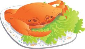 Zeevruchten-stoom Krab Royalty-vrije Stock Afbeeldingen