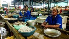 Zeevruchten voor verkoop in Maputo, Mozambique royalty-vrije stock afbeeldingen