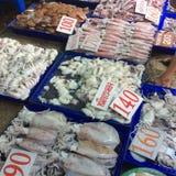 Zeevruchtenmarkt in Angsila Chonburi Thailand Stock Foto's