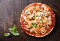 Zeevruchtenpizza Stock Afbeelding