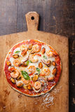 Zeevruchtenpizza Stock Afbeeldingen