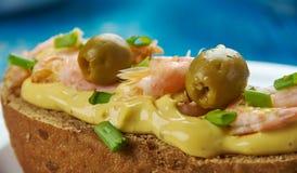 Zeevruchtensandwiches Royalty-vrije Stock Fotografie