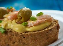 Zeevruchtensandwiches Stock Fotografie
