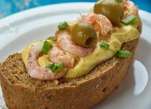 Zeevruchtensandwiches Royalty-vrije Stock Foto
